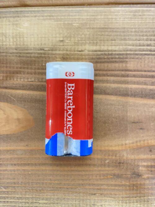レイルロードランタンのバッテリー・リチウム電池のフィルムは剥がすな